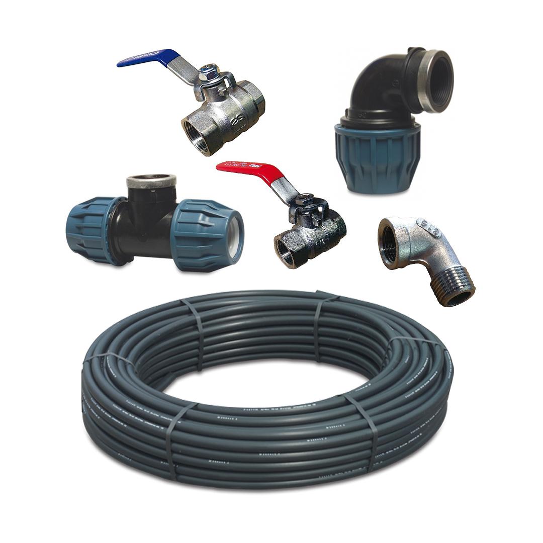 Wasserleitung und Installationszubehör