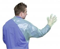 Untersuchungshandschuhe mit Schulterschutz