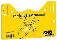 Warnschild - Vorsicht Elektrozaun!