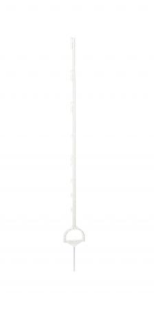 Vollkunststoffpfahl Steigbügelpfahl 158 cm weiß