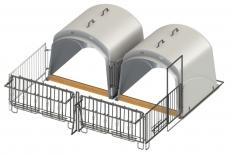CalfHouse Premium XL mit Umzäunung Doppel-Set