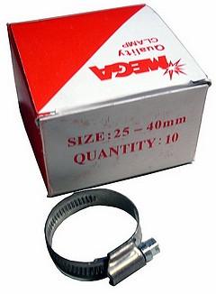 Schlauchschelle NIRO Edelstahl 25 - 40 mm