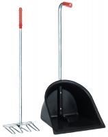 Stallbutler Mistboy mit Harke 75 cm versch. Farben