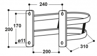 Schutzbügel für Modell 10P, 20, 12P, 25R, 46, 115, 1100 und 1200