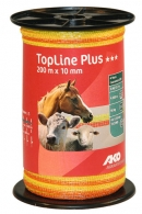 TopLine Plus Weidezaunband 200 m x 10 mm gelb-orange