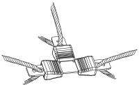 Litzen-T-Verbinder 3 mm Litze