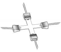 Litzen-Kreuzverbinder 3 mm Litze