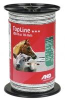 TopLine Weidezaunband weiß/schwarz