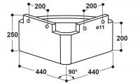 Dreieck-Futtertrog Modell 210
