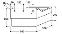 Rechteck-Futtertrog Modell 211