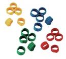 Hühner Spiralringe 100 Stück gemischte Farben