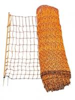 Geflügelnetz orange 50 m elektrifizierbar Doppelspitze