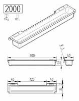 OK Plast Futtertrog Modell 2000 100 Liter