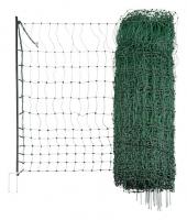 Geflügelnetz grün 50 m elektrifizierbar Doppelspitze