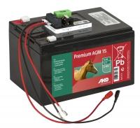 AKO 12V Premium AGM Batterie 15 Ah Komplettset