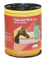 TopLine Plus Weidezaunband 200 m x 20 mm gelb-orange | grün