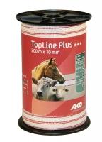 TopLine Plus Weidezaunband 200 | 500 m x 10 mm weiß-rot