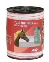 TopLine Plus Weidezaunband 200 | 400 m x 20 mm weiß-rot