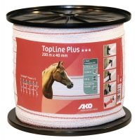 TopLine Plus Weidezaunband 200 m x 40 mm weiß-rot