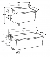 Kompakt-Trogtränke 55 cm | 100 cm