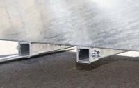 Viereckraufe mit Palisadenfressgitter quadratisch