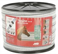 TopLine Plus Weidezaunband 200 m x 40 mm | weiß-schwarz