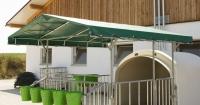 Vordach für CalfHouse Premium XL mit Umzäunung