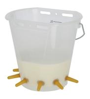 Lämmereimer transparent 8 Liter 6 Sauger