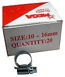 Schlauchschelle NIRO Edelstahl 10 - 16 mm