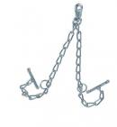 Kette mit Wirbelkarabiner für Rinderanbindung 4 cm